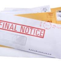 a pile of bills /junk mail