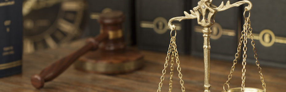 Picture of a Gavel and the Scales of Justice
