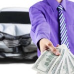 Money handed over for a car accident