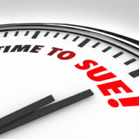 Time to Sue Clock Lawsuit Legal Law Justice Court
